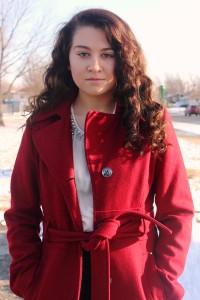 amanda in red coat