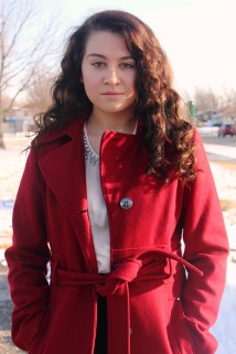 amanda in red coat